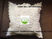 crochet cutwork cushion