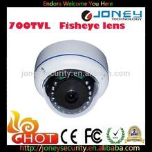 700TVL CCTV Fisheye Analog Panoramic Mini Vandal camera 360 Degree Wide Angle