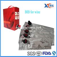 Promotional hotsale laminated aluminum foil wine bag