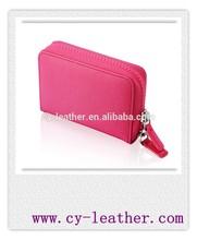 pitaya pink saffiano leather camera case for women