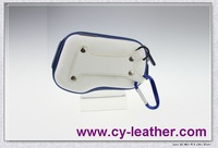 white and blue EVA camera case with studs