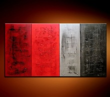terrific oil paintings 4pcs panel group abstract oil painting for home decor