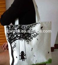 cotton eco friendly bags/ small drawstring cotton bags/ wine bottle canvas drawstring bag
