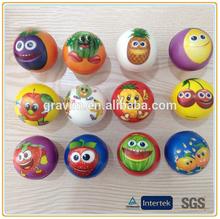 Wholesale printing fruit PU foam toys ball