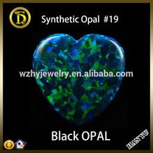 OP19 Heart Opal Beads Synthetic Black Opal