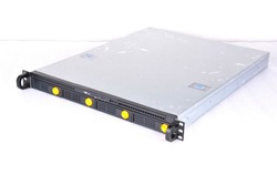 """1u 4 bay with 3.5"""" bays compact rack mount case"""