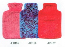 2000ml best selling Velboa pink plush hot water bag cover