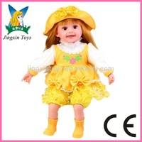 2015 new design kid doll porcelain doll, reborn doll, kits doll bed