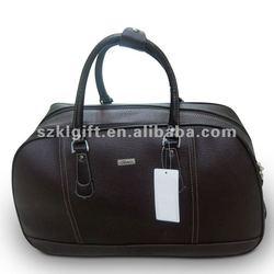 fashion PU leather travel duffel trolley bag 2012