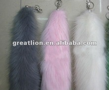 2012 Hot sale fashion wholesale fox fur tail keychain