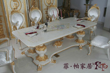 teak hand carved furniture - solid wood hand carving dining table