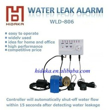 2013 built-in battery or AC adapter new listing hot sale water leak alarm lowes with electric auto off valve1'',1/2'',3/4''