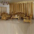 الأثاث الكلاسيكي الإيطالي - الديوان الملكي الفضة الكلاسيكية الخشب الصلب مجموعة أريكة
