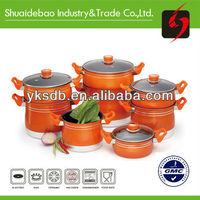 Aluminum colorful steamer kitchen pot set