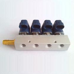 IP65 12VDC 3Ohms CNG/LPG 4 CYL Automoble Automotive Injector Rail