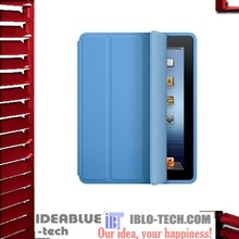 leather pu case for ipad 3 case with smart cover