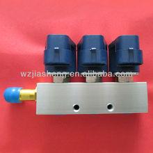 De alta qulaity 12vdc/3ohms ip65 3 cyl gnc inyector de ferrocarril para los coches
