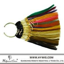 Human hair color card/ring