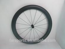 Vente chaude! 700c roues de bicyclette, 60mm pneu roues carbone pour vélo de route, roues en carbone 23mm fixie, dropshipping