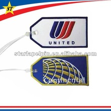 airline thermal custom embroidered baggage tag