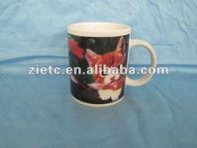 ceramic cat coffee mug for promotion with customized logo