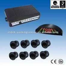 12V Voltage parking sensor,led display parking sensor competitive 8 sensors,bibi alarm for you choice