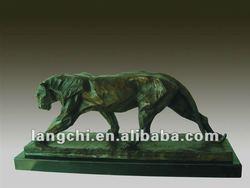 Western Style Art Deco Home&Indoor Animal Leopard Bronze Statue TPM-374