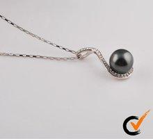 2012 Fashion Shell pearl pendant with rhodium plating