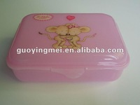 Rectangular PP Lunch Box with fancy printing