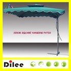 side pole waterproof square vented patio umbrella wholesale