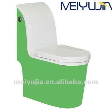 Verde toletta di un pezzo da bagno wc a doppio scarico - Bagno senza scarico ...
