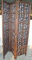 3 panel indoor decorative folding wooden screen