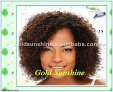 Wholesale short hair styles beautiful natural black curly malaysian hair full lace wigs