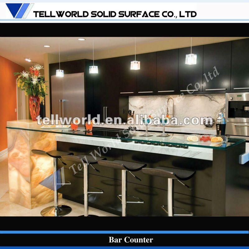 Led commercial cuisine contemporaine salon con oit - Comptoir separation cuisine salon ...