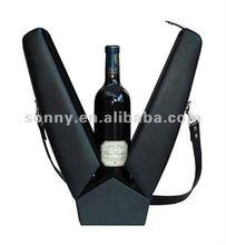 Handmade leather wine holder