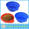 2014 DGCCRF eco friendly silicone collapsible dog bowl for dog cat