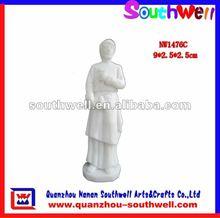 unpainted bisque figurine
