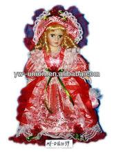 16 polegada personalizado porcelana princesa russa boneca de cerâmica