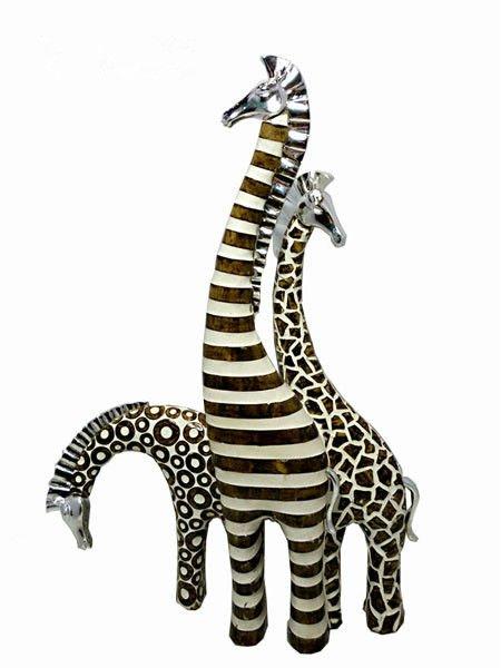 anao de jardim resumo:para casa ornamento escultura figurinhas girafa-Artesanato de