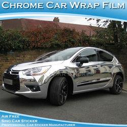 SINO CAR STICKER Free Shipping Auto Vinyl Sticker Chrome Silver Car Cover