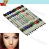 12 Colored Eyeliner Pencil Lip Eyebrow Plastic Glitter Cosmetic Set