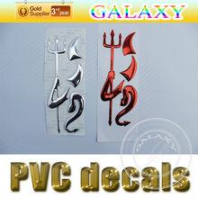 brillliant chrome auto sticker badge emblem/little devil angel label/car derocation