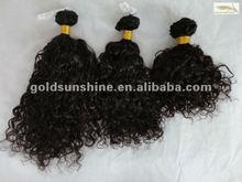 2013 Summer promotion virgin malaysian curly hair weft