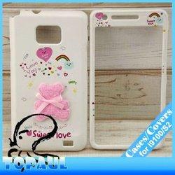 3D animal cover bear hard case for SamSung Galaxy S2 i9100,i91026