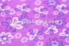 little flower red fleece fabric