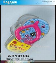 plastic sandal fridge magnet clip