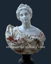 Marbre buste fille statue, Custom buste, Intérieure statues marbre art
