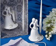 bride and groom wedding guest pen wedding favors