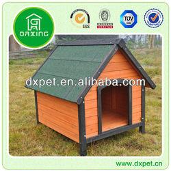 Dog house wooden asphalt roof DXDH011