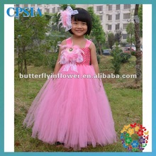 2014 fashionable flower girl tutu dress tutu growns with bow belt 3layers